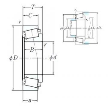 168,275 mm x 247,65 mm x 47,625 mm  NSK 67782/67720 cylindrical roller bearings