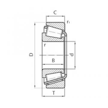 95 mm x 170 mm x 32 mm  CYSD 30219 tapered roller bearings
