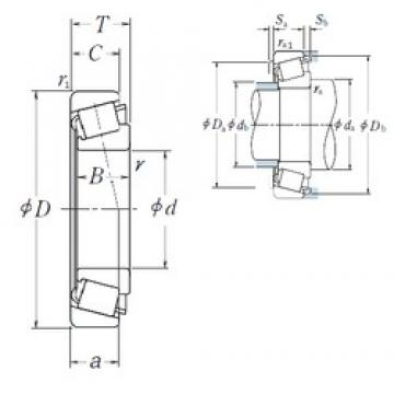 50 mm x 30 mm x 35 mm  NSK T2ED050 tapered roller bearings