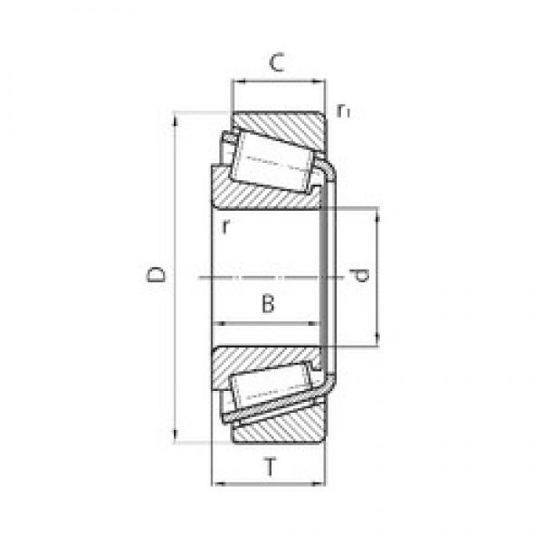 35 mm x 65 mm x 20 mm  KBC TR356521HL tapered roller bearings #2 image